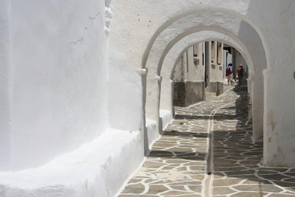 Vault, masonry with an arched opening that allows use of the space below the arch. In Profitis Ilias, Marpissa.