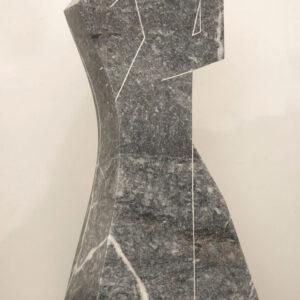 """«Χορός» (1988). Μάρμαρο 1,10μ. Μουσείο Γλυπτικής """"Νίκος Περαντινός"""" στη Μάρπησσα."""