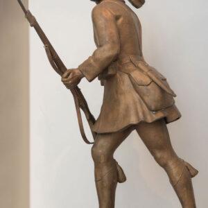 """Αντίγραφο του έργου από χαλκό 1,40μ. βρίσκεται επίσης στο Μουσείο Γλυπτικής """"Νίκος Περαντινός"""" στη Μάρπησσα."""