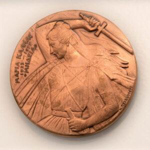 """«Μαρία Κάλλας» (1977). Χαλκός 0,21μ. Μουσείο Γλυπτικής """"Νίκος Περαντινός"""" στη Μάρπησσα."""