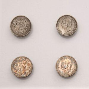 Ο Νικόλαος Περαντινός φιλοτέχνησε το εικοσάδραχμο του 1960, το ασημένιο νόμισμα που κυκλοφορούσε για πολλά χρόνια.