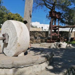Ο βασικός μηχανισμός του ελαιοτριβείου ήταν οι μυλόπετρες, που περιστρεφόντουσαν κυκλικά με τα χέρια ή με τη βοήθεια ζώων πάνω στην επίπεδη επιφάνεια αλέθοντας τις ελιές. Μάρπησσα, Πάρος